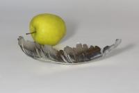 Schale aus Silber geschweißt und hauchdünn geschmiedet