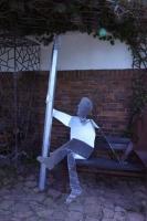 Sitzende Skulptur aus 3mm Stahlblech plasmagetrennt
