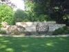 Garten Skulptur aus Rohr geschweißt, Durchmesser 80 cm