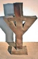 Kreuz - gerostete Skulptur aus 1mm Stahlblech geschweißt