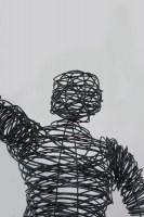Draht Skulptur aus 3 mm Eisendraht