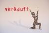 kniende Draht Skulptur aus 1,4 mm Stahldraht