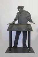 """Skulptur """"Berwanger Nudelschneider"""" für die  Gemeinde Kirchard"""