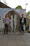 Skulpturen für die Stadt Peine am Platz unter der Südbrücke