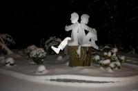2 Skulpturen aus 3mm Stahlblech, plasmagetrennt und feuerverzinkt
