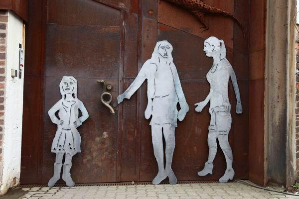 Skulpturen aus Stahlblech nach einem Foto gearbeitet