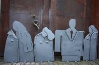 Skulpturen aus 3 mm Stahlblech, feuerverzinkt und lackiert