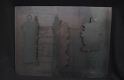 wandhängende Kavernenskulptur aus 3 mm Stahlblech plasmagetrennt