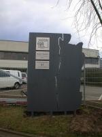 Schild mit Kavernenkontur für die SOCON SONAR CONTROL Kavernenvermessung GmbH in Emmerke