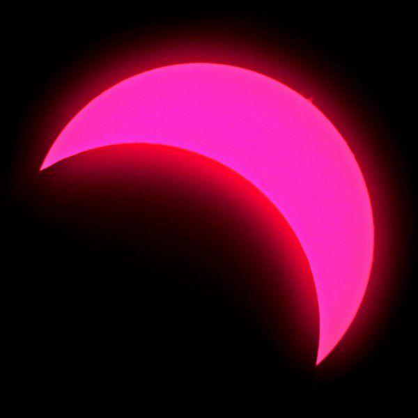 Sonnenfinsternis am 20.3.2015 im H - Alpha