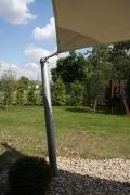 super Terrassenüberdachung mit einem Sonnensegel für die Socon GmbH