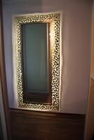 Spiegel mit Rahmen aus 1 mm Stahlblech, mit LED´s hinterleuchtet