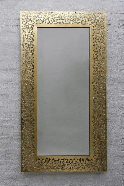 spiegel aus einzelnen blechst cken geschwei t. Black Bedroom Furniture Sets. Home Design Ideas
