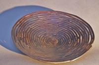 Spiral Schale aus 5 mm Stahldraht und Silberlot