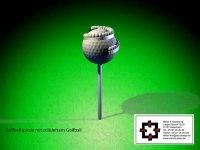 Ballspirale oder Ballsammler für den Abschlag auf dem Golfplatz