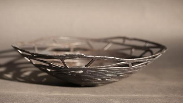 Drahtschale aus 4 mm Stahl geschweißt und geschmiedet