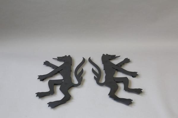 Das Wappen von Peine aus Stahl für den Ratssaal