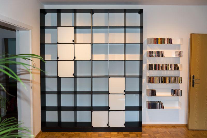 2 teiliges stahlregal aus 3 mm stahl. Black Bedroom Furniture Sets. Home Design Ideas