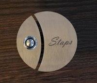 zweigeteilte, runde Türklingel aus 3mm Edelstahl