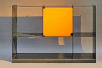 Steckregal mit Glastüren aus 3 mm Stahlblech