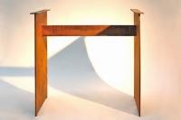 rechteckiges Tischuntergestell aus 12 mm Corten Stahl