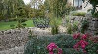 Gartenskulptur aus Stahlrohr, autogen geschweißt und lackiert