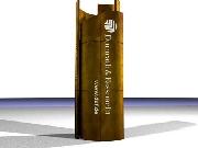 Pylon für Dumrath & Fassnacht: Die installierte Skuptur