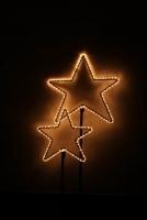 Leuchtende Sterne aus Rundeisen, Preis pro Stück