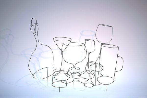 Stillleben - Karaffe mit Gläsern und Bechern