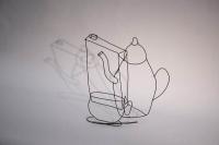 Stillleben - Kaffeekanne mit Tasse und Milchtüte
