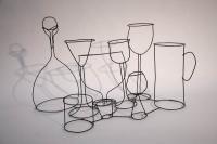 Stillleben - Karaffe mit Gläsern