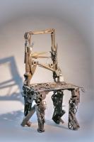 Stuhl Skulptur aus Schrott geschweißt
