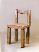 Stuhl - Skulptur aus rostigem Stahlblech