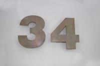 Hausnummer 34 aus Tombak