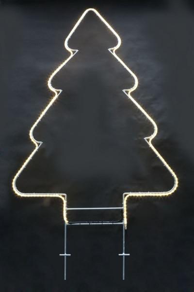 LED Tannenbaum aus feuerverzinktem Rundeisen