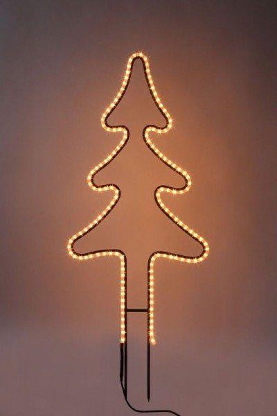 Leuchtannenbaum aus Rundeisen mit einem LED Lichtschlauch