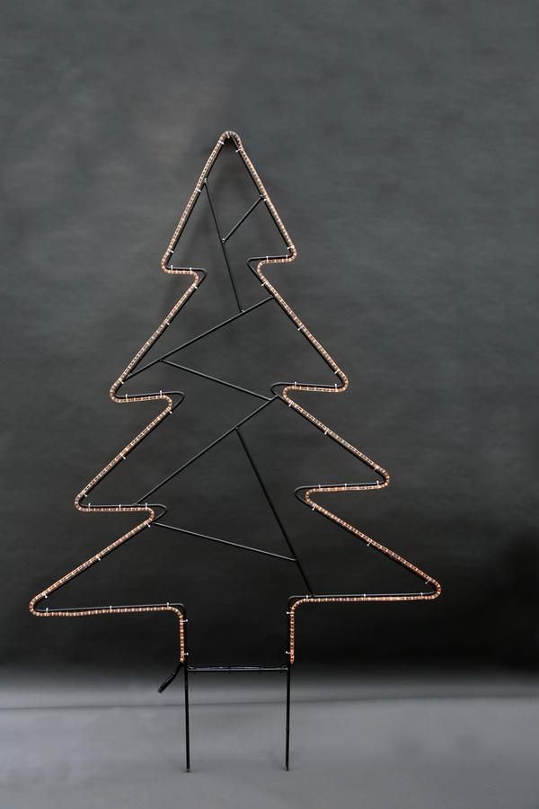tannenbaum mit einem lichtschlauch nachgezeichnet. Black Bedroom Furniture Sets. Home Design Ideas