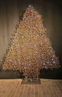 Tannenbäume aus 5 mm Draht, punktgeschweißt und beleuchtet