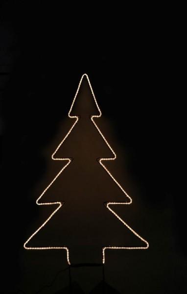 Tannenbaum mit Licht Schlauch