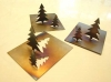 Tannenbaum aus Edelstahl flammoxidiert - 3 Stück