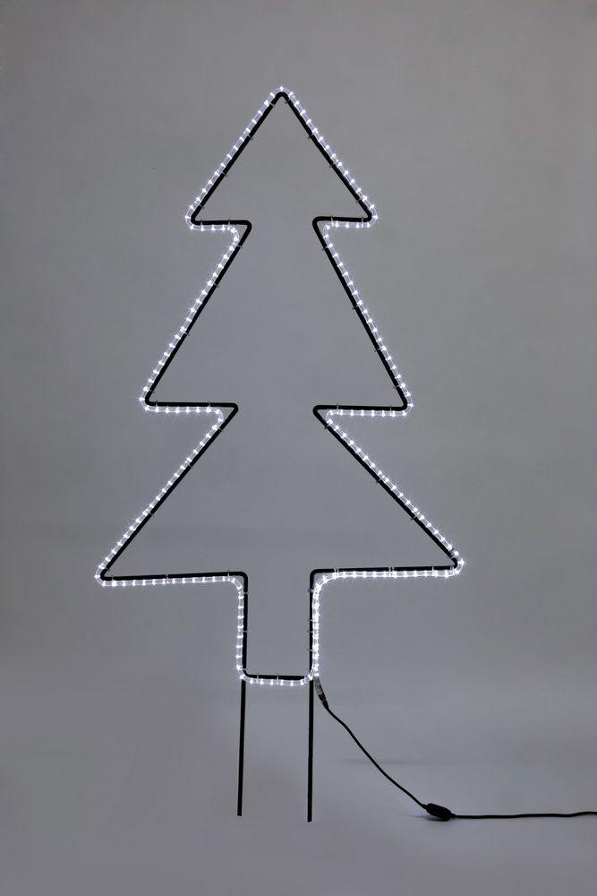 metall tannenbaum mit lichtschlauch in reinwei. Black Bedroom Furniture Sets. Home Design Ideas