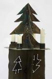 Tannenleuchter mit 4 Kerzen