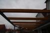 Terrassendach, Überdachung aus Stahl, Glas und Holz