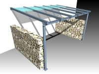 Entwurf für eine Terrassendach - Schiebedach