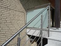 Treppengeländer  aus Edelstahl mit Relingstäben