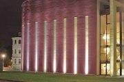 Anstrahlung der Fassade des Thega Filmpalast in Hildesheim