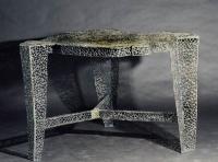 Tisch aus Rundeisen mit Tombak verschweißt