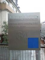Firmenschild für das Steuerbüro Tolksdorf in Hannover