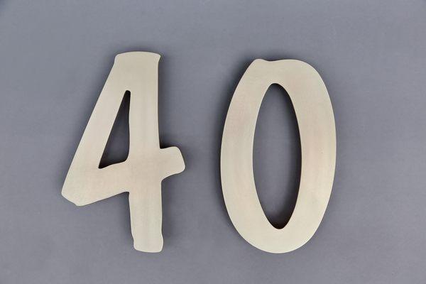 Hausnummer aus 1,5 mm Tombak