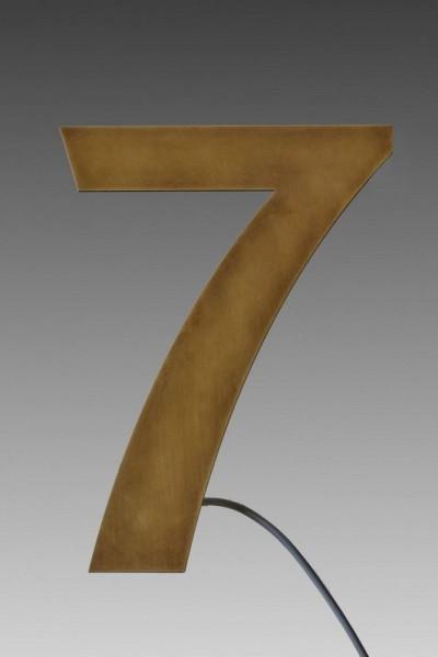 Hausnummer 7 aus Tombakblech